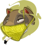 Weezel trägt hombre Maske