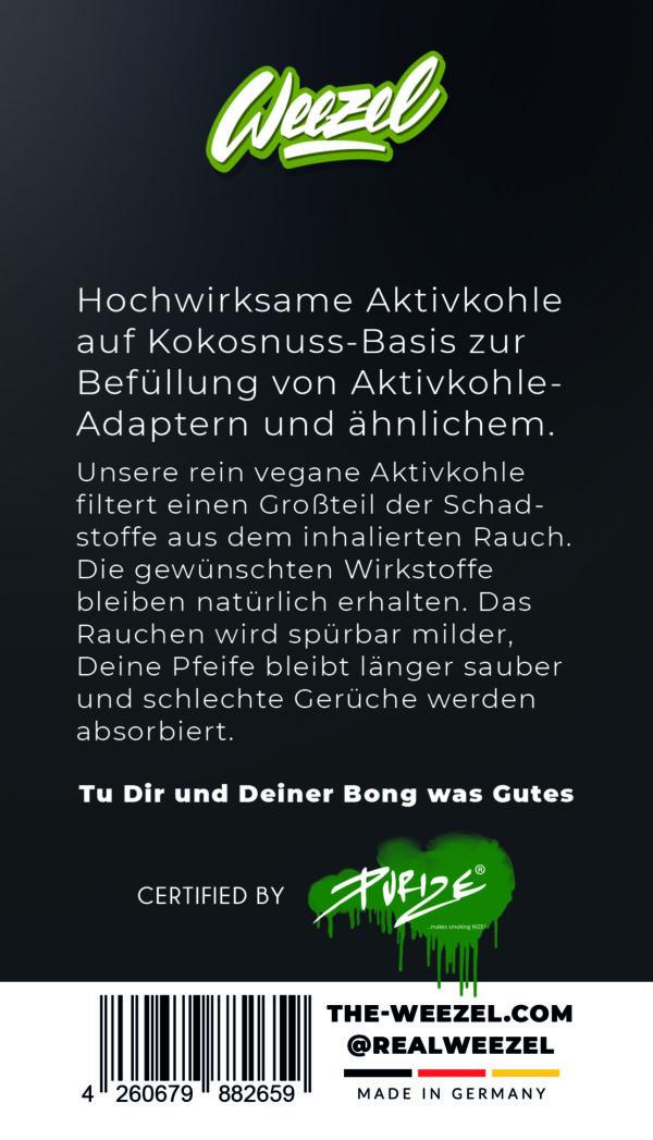 Aktivkohle von weezel 25Gramm - certified by purize