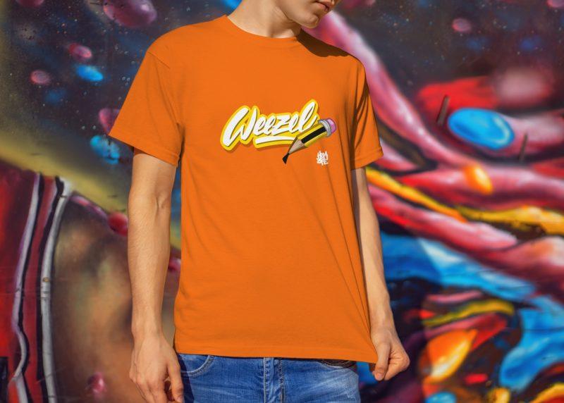 Hombre Logoshirt creative weezel orange Model render front