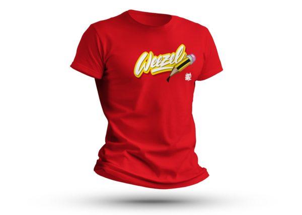 Hombre Logoshirt creative weezel rot Büste render front