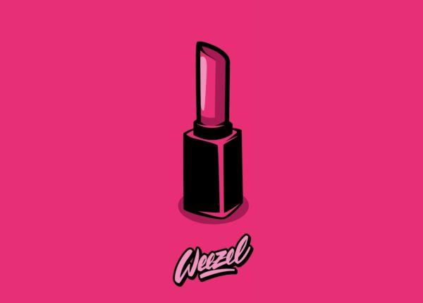 Weezel Clipper Feuerzeug in der Farbe crazy pink Motiv