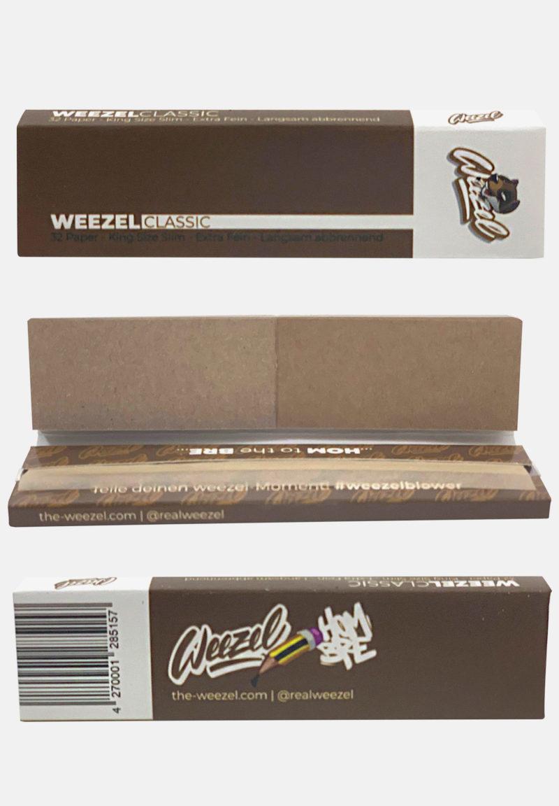 Weezel King Size Slim Longpaper mit Tipps - Ungebleicht Braun - Details