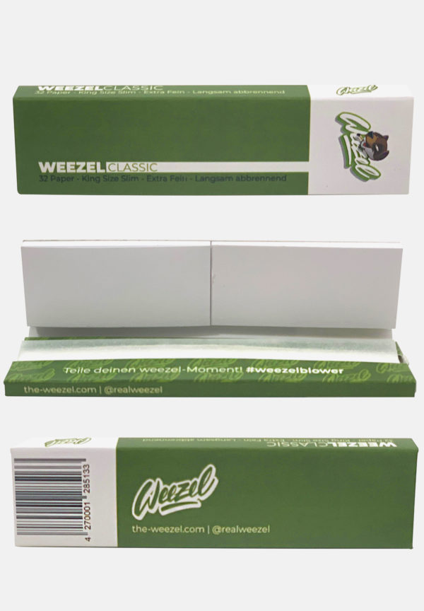 Weezel King Size Slim Longpaper mit Tipps - Classic Green - Details