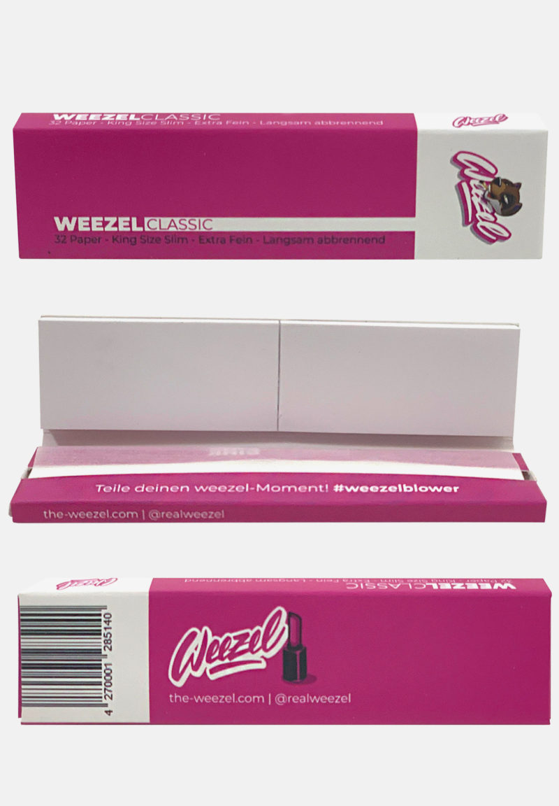 Weezel King Size Slim Longpaper mit Tipps - Classic Pink - Details