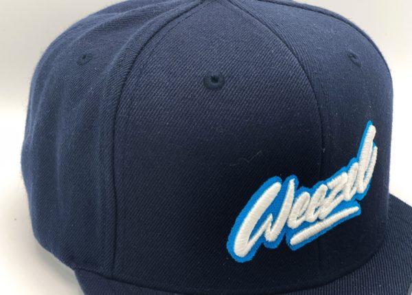 weezel Logokappe Blau Blau Detailansicht