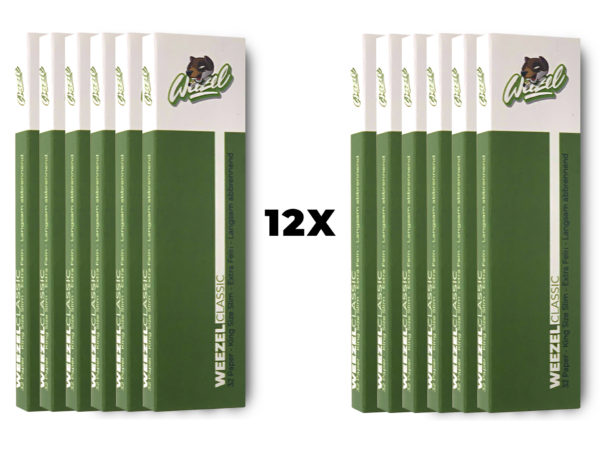 weezel paper pack 12 vegane longpaper Classic Green frontview